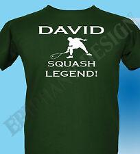 Personalizado Squash Camiseta Hombre Mujer Idea Regalo Añadir de tu elección