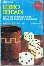 DADI - POKER - BACKGAMMON - 40 GIOCHI DI ABILITA' E AZZARDO - LONGANESI -   1977