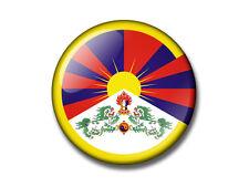 FREE TIBET 25 or 38mm button badge / fridge magnet. Dalai Lama BUDDHIST Peace
