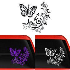 Butterfly Flower Sticker Vinyl Decal Car Laptop Window Wall Bumper Decorative