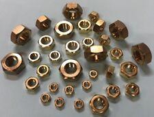 M2, M2.5, M3, M4, M5, M6, M8, M10, M12, M16, Metric Solid Brass Hexagon Full Nut
