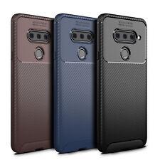 For  LG V40 ThinQ  Lightweight Flexible [Carbon Fiber Texture Pattern] TPU Case