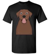 Chocolate Labrador Retriever Cartoon T-Shirt Tee - Men Women Youth Tank Long Lab