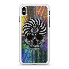 Black White Pattern Filled Skull Face Skeleton Bones Colourful Phone Case Cover