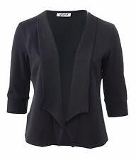 Womens New Black Blazer Jacket Size 16 To 26 Fine Stitch Detail
