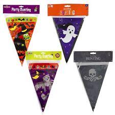 8m Haunted Halloween Bunting Plastic Flag Banner Decoration Vampire Witch Mummy