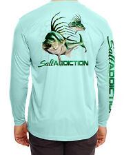 Salt Addiction microfiber Roosterfish fishing long sleeve life t shirt 30+ uv