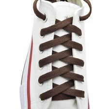 """Flat Shoelace 8 mm """"Brown"""" Athletic Sneakers 27"""",36"""",45"""",54"""",63"""""""
