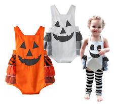 StylesILove Infant Toddler Halloween Pumpkin Sleeveless Costume Outfit Romper
