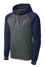 New Texans Full Zip Jacket Navy Hoodie Hooded Sizes XS - 4XL Houston Sweatshirt