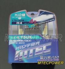 MTEC H4 4X XENON COSMOS BLUE WHITE HEADLIGHT BULBS