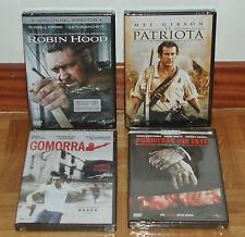 4 DVD - ROBIN HOOD - EL PATRIOTA - PROMESAS DEL ESTE - GOMORRA - PRECINTADOS