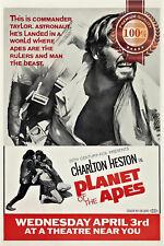 New Planet Of The Apes 1968 60s Film Original Cinema Movie Print Premium Poster