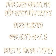 Holz Buchstaben, Zahlen und Sonderzeichen - Green Fuzz