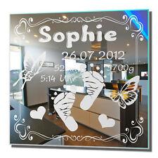 Motivspiegel Geschenk zur Geburt 5 Geburtstag Bild Spiegel Gravur Kinderzimmer