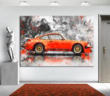 PORSCHE 911 CARRERA Oldtimer Auto Bilder Leinwand  Kunst Wandbild  XXL 1141A