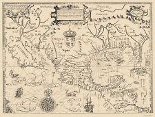 Old North America Map - Tatton 1616 - 23 x 30.25