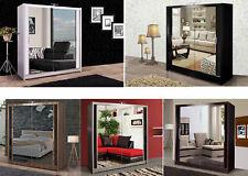 Modern Double Sliding Door Wardrobe Mirror 4 Colours  120/150/180/203