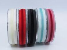 16mm, 20mm width Dupion Ribbon with Velvet Center Stripe 5 colours