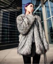 Women's Fashion Faux Fur Jackets Coats Warm Winter Outwear Overcoats S-6XL
