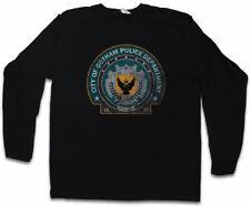 Gotham Police Department Logo Manica lunga T-shirt DEPT DARK KNIGHT BATMAN simbolo