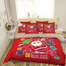 3D Santa Child 569 Bed Pillowcases Quilt Duvet Cover Set Single Queen King CA