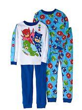 PJ Masks 4 PC Long Sleeve Tight Fit Cotton Pajama Set Boy Size 6