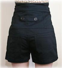 Black High Waisted Shorts 12 Denim Shorts 12 Rockabilly Shorts 12 50s Pin Up NEW