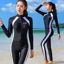 00c9854ed10 Womens One Piece Swimsuit Rash Guards Surfing Suit Dive Skin Full Body  Swimwear