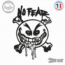 Sticker No Fear Smiley Decal Aufkleber Pegatinas NOF03 Couleurs au choix