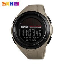 SKMEI Solar Power Mens Sports Watches 50m Waterproof LED Digital Wristwatch 1405