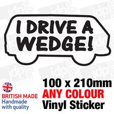 I DRIVE A WEDGE WESTFALIA STICKER/DECAL (VW, CAMPER, POP TOP, T25, BAY, T2)