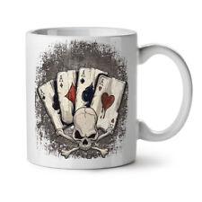 Poker Card Casino Skull NEW White Tea Coffee Mug 11 oz   Wellcoda