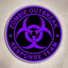 Purple Zombie Outbreak Response Team Sticker Biohazard Dead Gun Decal
