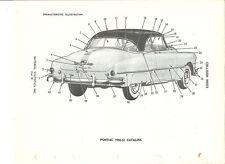 1950 1950 1951 1953 Pontiac Catalina  NOS Exterior Parts Guide