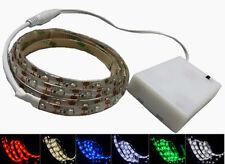 LED Leiste Streifen Band Stripe 30-200CM Mit DC-Stecker +3XAA Batterie Box DE
