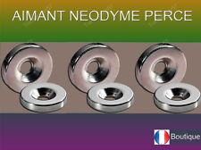 Lot de 10 à 50 Aimant Neodyme NdFeB N35 percés puissant magnet tailles diverses