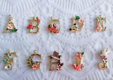 Vintage Unique Alphabet Letter Initial Necklace Bracelet Pendant Gold Name A-Z