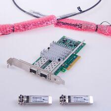 Intel X520-DA2 E10G42BTDA 10G 10Gb Ethernet Network Adapter 10GbE SFP+ PCIe NIC