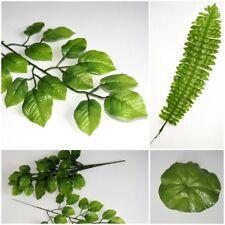 10 grosse Künstliche Blätter Deko Blätter  Grün Floristik Basteln Hobby  Strauß