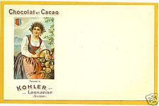 Advertising Postcard - Kohler Swiss Chocolate Tessin