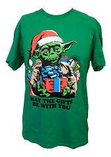 NEW! Yoda Star Wars May the Gifts Be With You Christmas XMAS Funny Santa Shirt