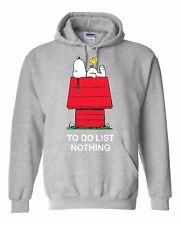 SNOOPY TO DO LIST NOTHING unisex Hoodie Hood  kids teen age humor gift
