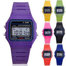 Men Women Kids Electronic LED Digital Multifunction Plastic Sports Wrist Watch