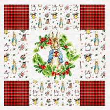 Beatrix Potter Peter Conejo, Navidad, Panel De Tela Coser Craft