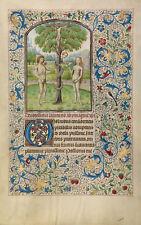 "Willem Vrelant Illumination : ""Adam and Eve Eat Fruit"" (1460s) — Fine Art Print"