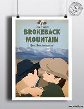BROKEBACK MOUNTAIN - Minimalist Movie Poster Print Posteritty Minimal Ledger