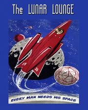 Bar Lunar Lounge Spaceship 1955 Every Man Needs His Space 16X20 Poster FREE SH