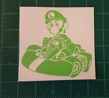 LUIGI - Mario Kart Nintendo custom vinyl Sticker Car window Tool Box Car Bumpers