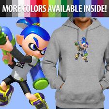 Splatoon Blue Inkling Boy Super Smash Bros. Pullover Sweatshirt Hoodie Sweater